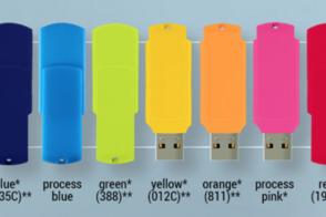 Флешки с логотипом (модель Colour blue)