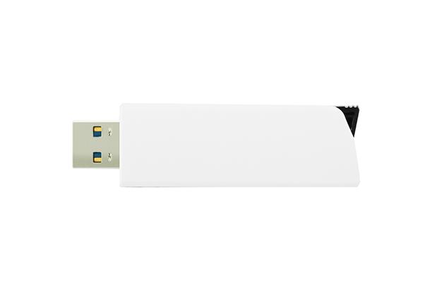 Пластиковая USB Flash память Click 3.0 - Белый