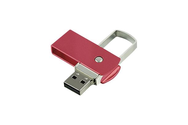 Металлическая USB Flash память ZIP 2.0 - Красный