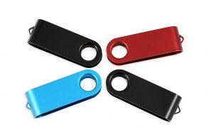 Цветная клипса для флешки Twister